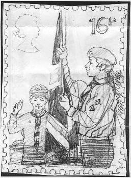 Scout stamp sketch # 1