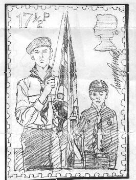 Scout stamp sketch # 2