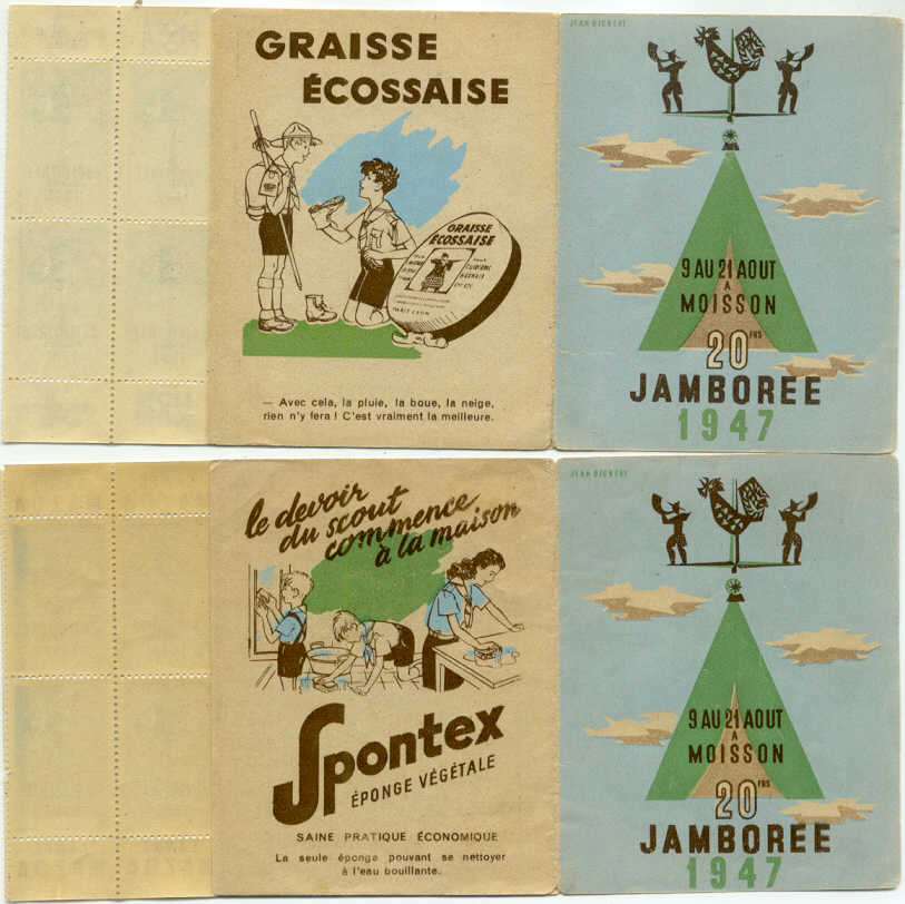 Not Only Scout Stamps Can Be Found In Booklets But Also Labels Here Are Two Varieties Of A Booklet With World Jamboree Issued 1947