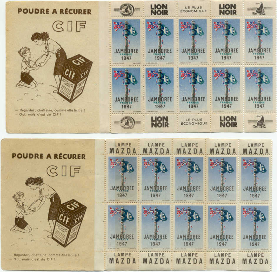 France Scout Stamp Booklets