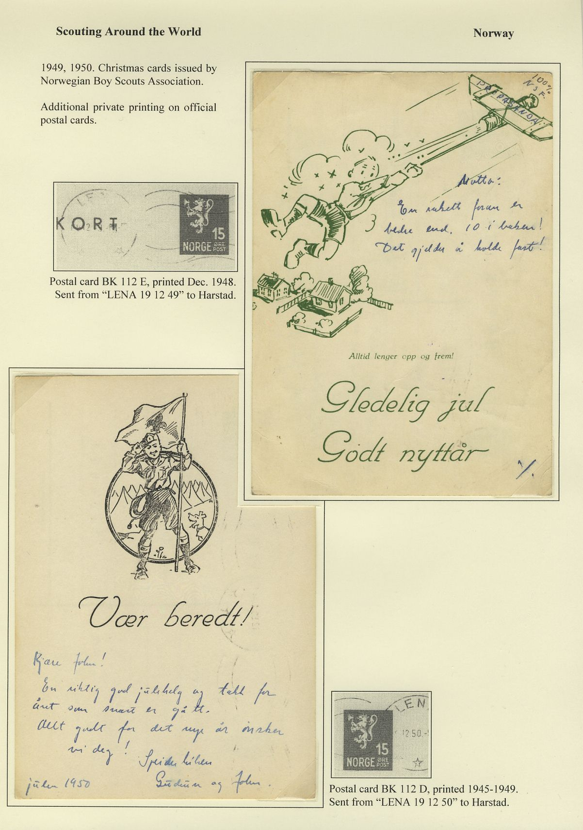 Norwegian Scout Postal Stationery